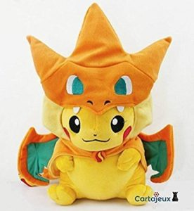 Peluche Pikachu Dracaufeu Grand Modèle Version Bouche fermée - Edition Limité & Exclusive Pokemon Center Tokyo (Import Japon - Produit Officiel) de la marque Pokemon Center image 0 produit
