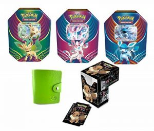 POKEBOX Lot de Noel 2018 NYMPHALI GX + PHYLLALI GX + GIVRALI GX en Français + 1 Deck Box + 1 Porte-Cartes Compatible Cartes Pokemon de la marque POKEBOX image 0 produit
