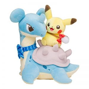 Pokemon Center original Plush Doll Pikachu riding in Lapras / Lokhlass de la marque Pokemon image 0 produit