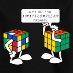Spreadshirt Rubik's Cube Complicate Things Blague Humour T-Shirt Ado de la marque Spreadshirt image 1 produit