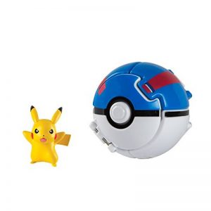 TOMY - T19145 - Throw'n Pop Poké Ball - Pikachu + Super Ball de la marque TOMY image 0 produit
